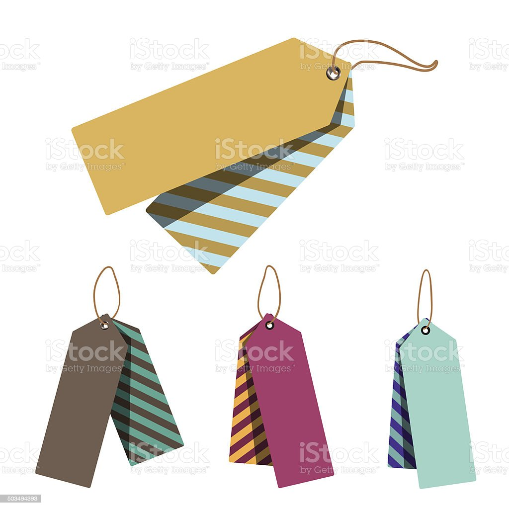 Doubled Price Tags royalty-free doubled price tags stock vector art & more images of blue