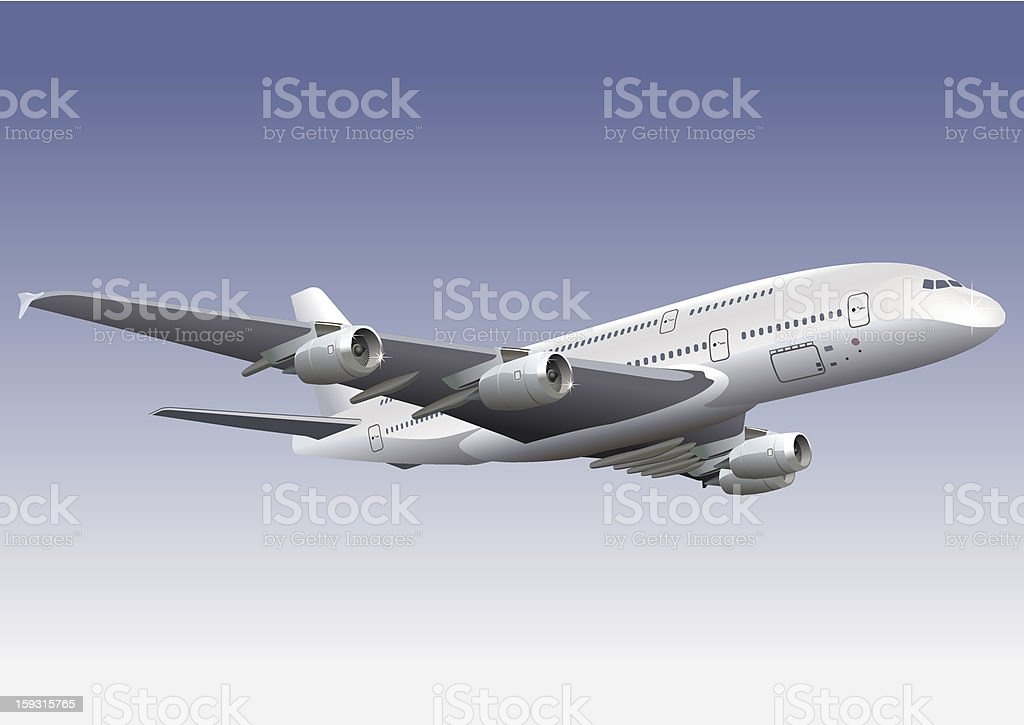 Double-deck Lagest Jetliner A380 royalty-free doubledeck lagest jetliner a380 stock vector art & more images of aerial view