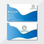 Double-sided business card template. Flat Design Vector Illustration. Abstract modern business card template design Name Card