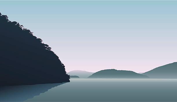illustrazioni stock, clip art, cartoni animati e icone di tendenza di doubtful sound - fiordi
