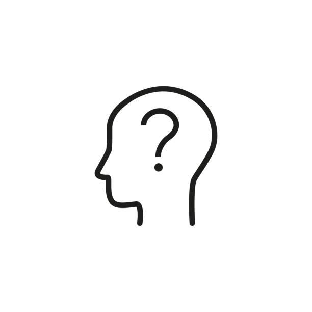 stockillustraties, clipart, cartoons en iconen met twijfelen aan persoon pictogram - achterdocht
