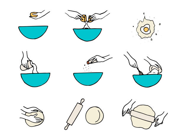 Best Kneading Dough Illustrations, Royalty-Free Vector ...