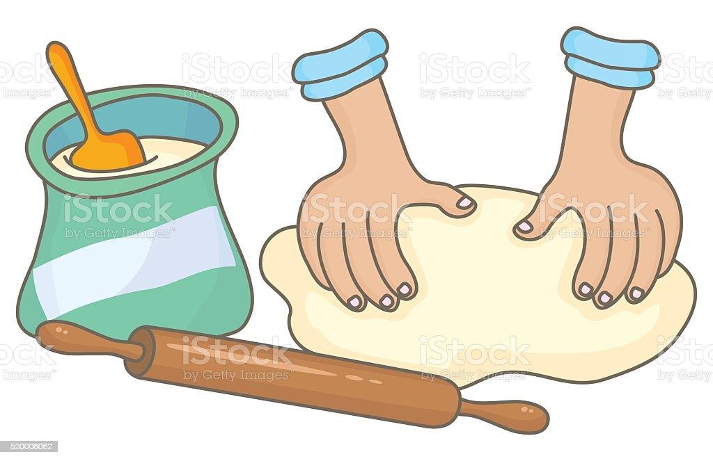 Dough vector art illustration