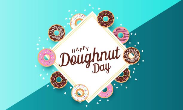 甜甜圈日 - 國家名勝 幅插畫檔、美工圖案、卡通及圖標