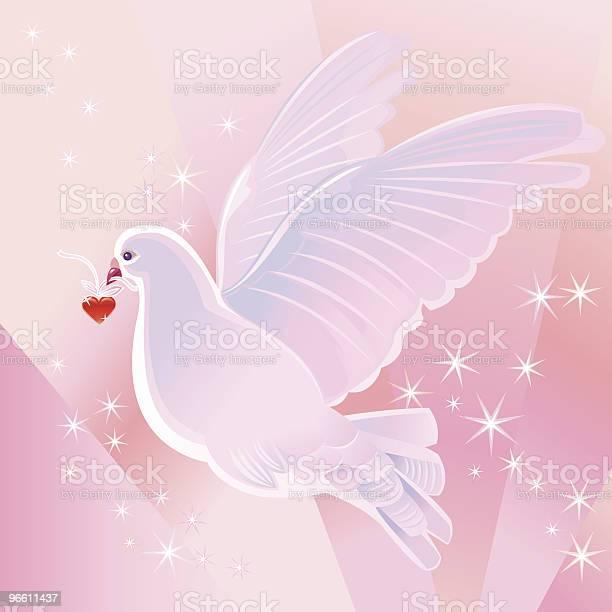 Dove And Heart-vektorgrafik och fler bilder på Alla hjärtans dag