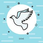 Dove Christian Thin Line Icon