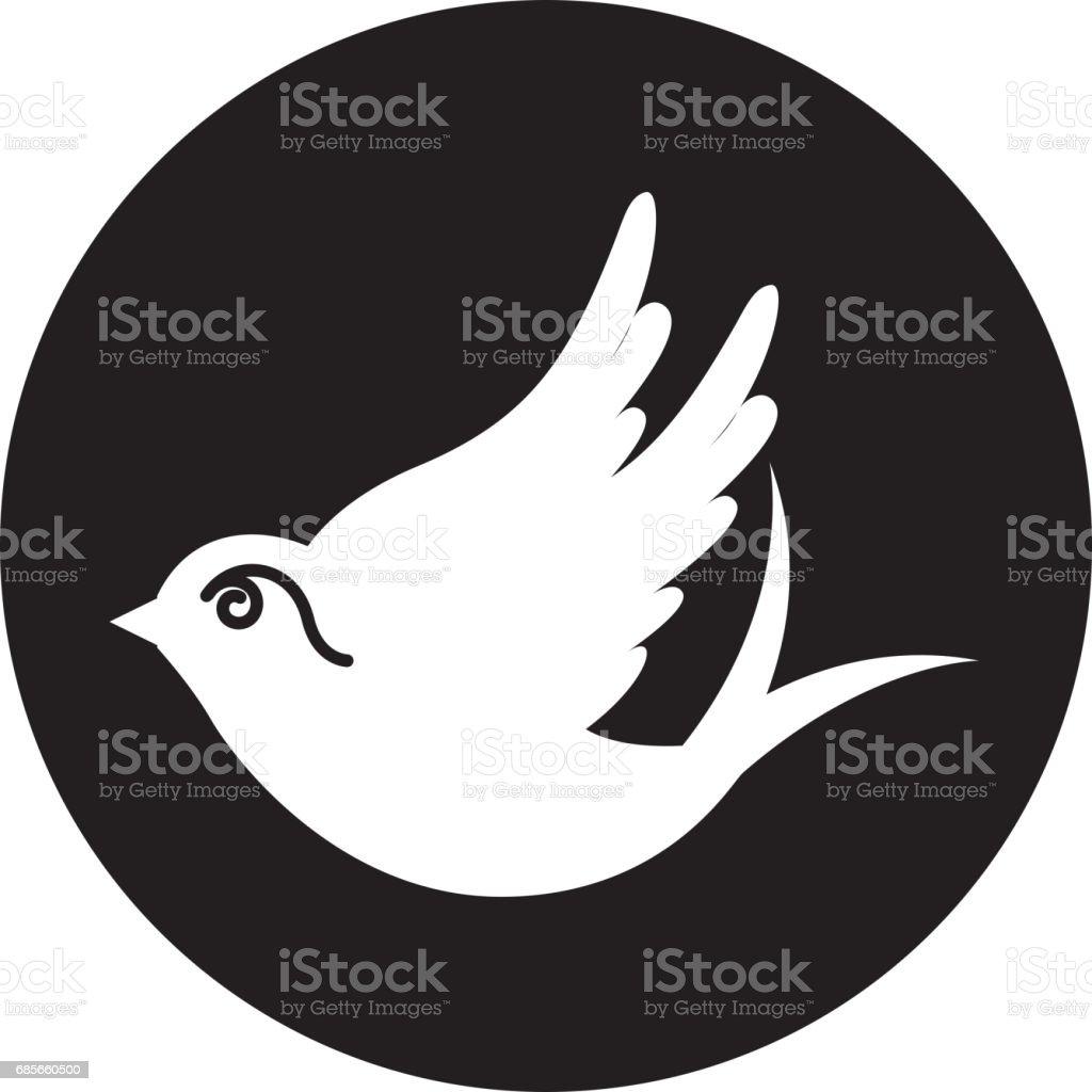 鳩は孤立したアイコンを描画 ロイヤリティフリー鳩は孤立したアイコンを描画 - お祝いのベクターアート素材や画像を多数ご用意