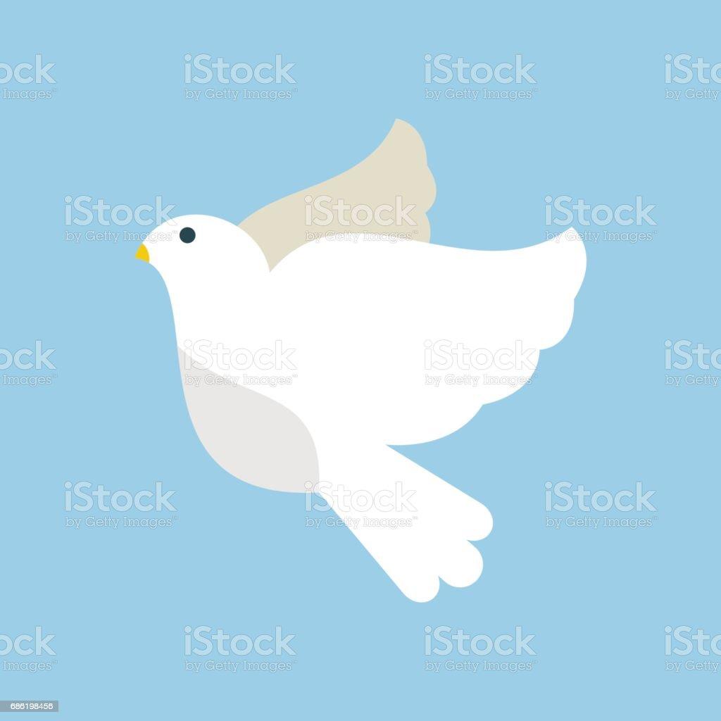 Ilustración De Paloma Volando Aves Vector Ilustración De Dibujos