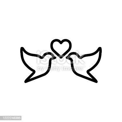 istock Dove icon flat vector template design trendy 1222246385