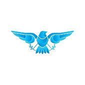 Dove Logo icon vector illustration. Abstract Line art of a flying dove with olive branch on a white background. Vector Dove icon logo, app, web template.
