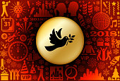 Dove  New Year Holiday Background Pattern