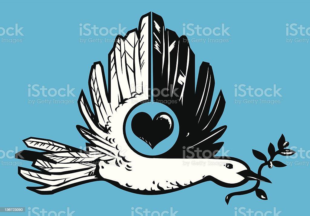 Dove of Love royalty-free stock vector art