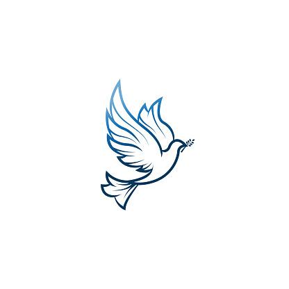 Taube Des Friedens Abbildung Mit Taube Mit Einem Olivenzweig Symbolisiert Frieden Auf Erden Strichzeichnungen Taube Tinte Malstil Strichzeichnungen Für Logo Und Design Vektorillustration Friedenlogo Stock Vektor Art und mehr Bilder von Abstrakt