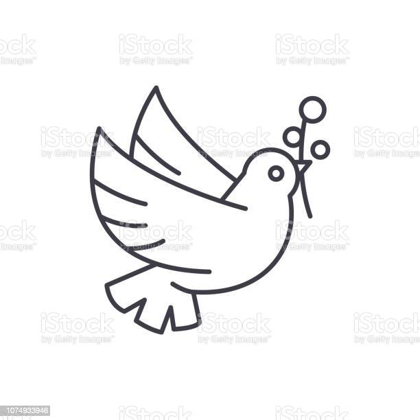 Dove of peace line icon concept dove of peace vector linear symbol vector id1074933946?b=1&k=6&m=1074933946&s=612x612&h=jqnojduqntu0vk4azvlpf7jzf oq9cyfmsaphxaaagw=
