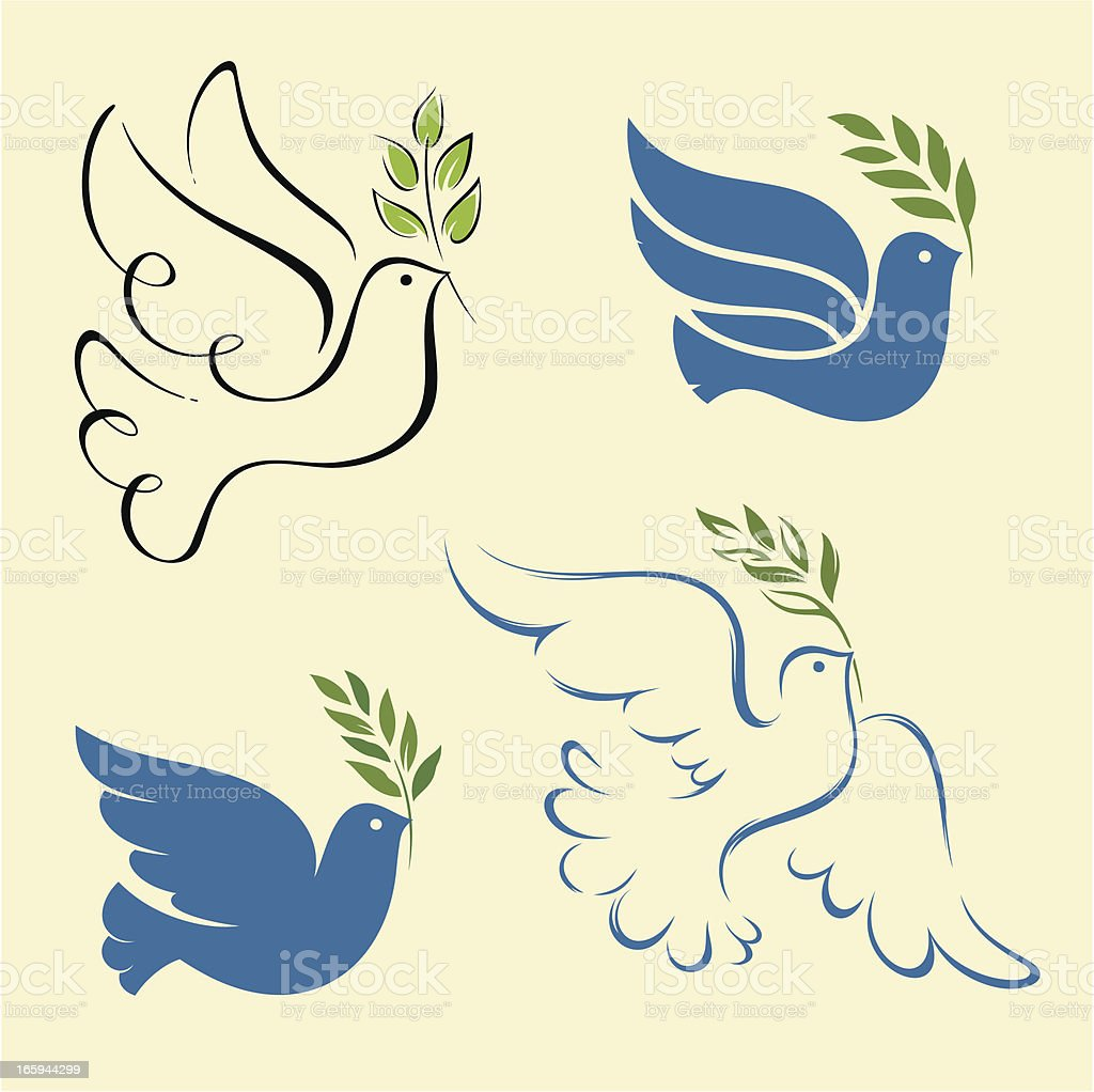 dove of peace set royalty-free dove of peace set stock vector art & more images of animal