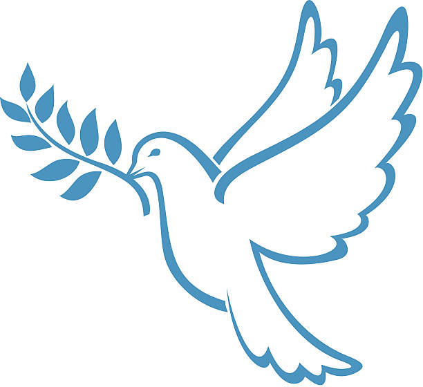 Dove of Peace Dove of Peace vector olive branch stock illustrations