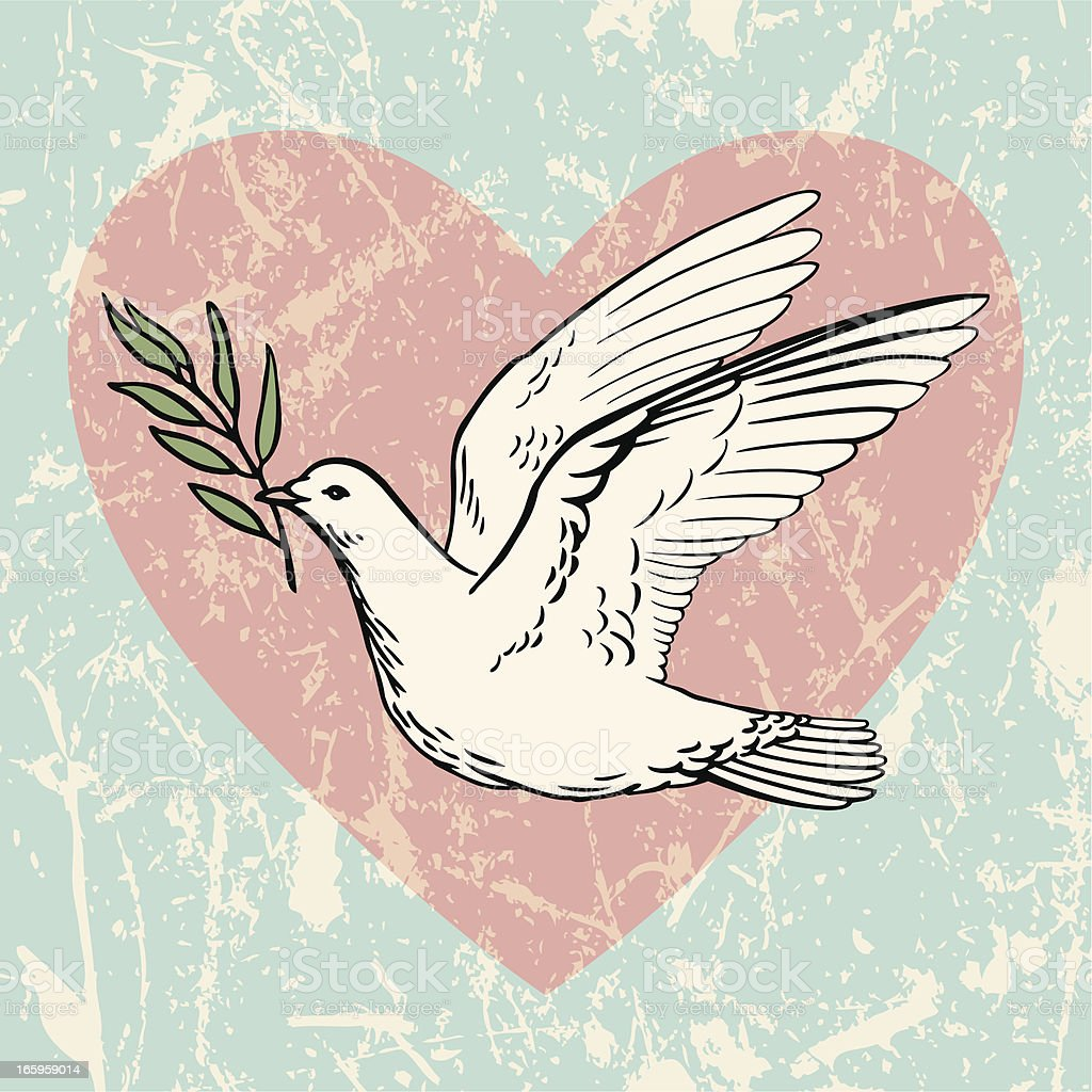 Dove of Peace with an Olive Branch royalty-free stock vector art