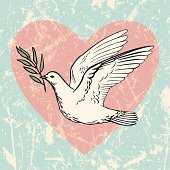 Dove of Peace with an Olive Branch