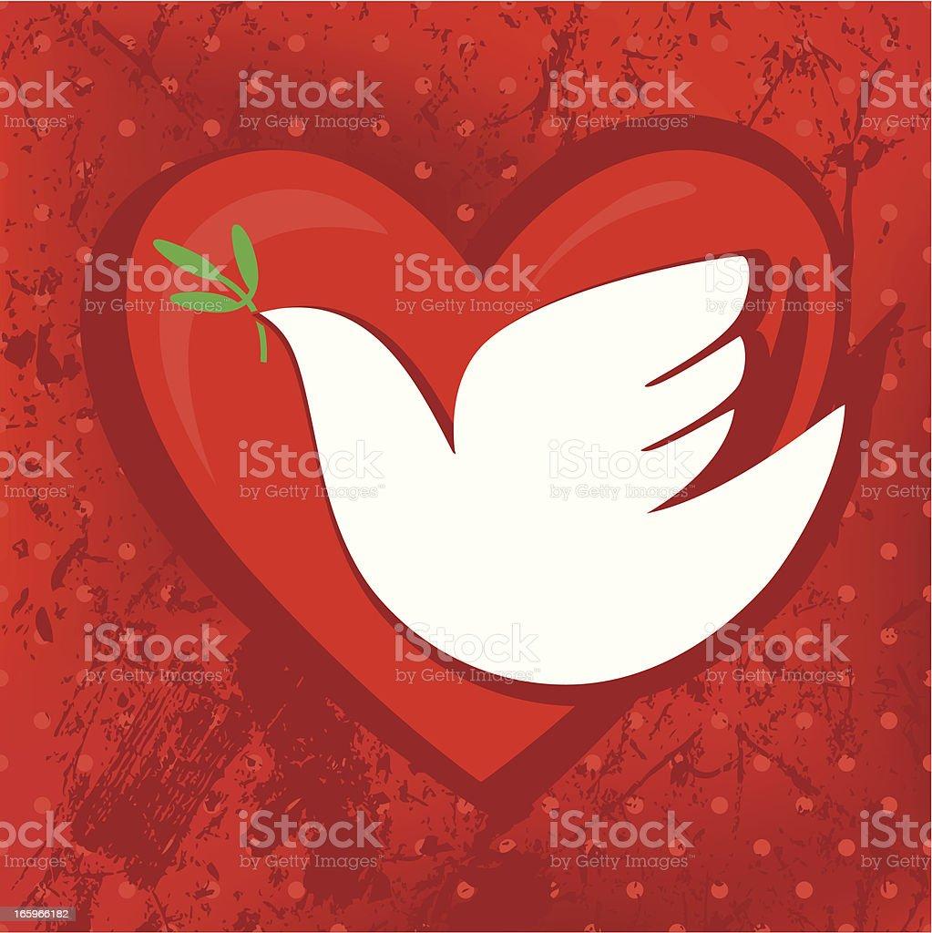 Dove, Olive, Heart royalty-free stock vector art