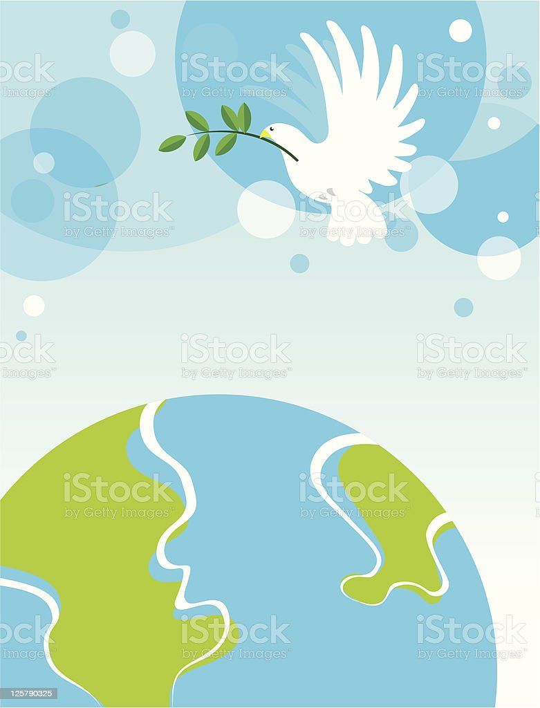 Dove over the World royalty-free stock vector art