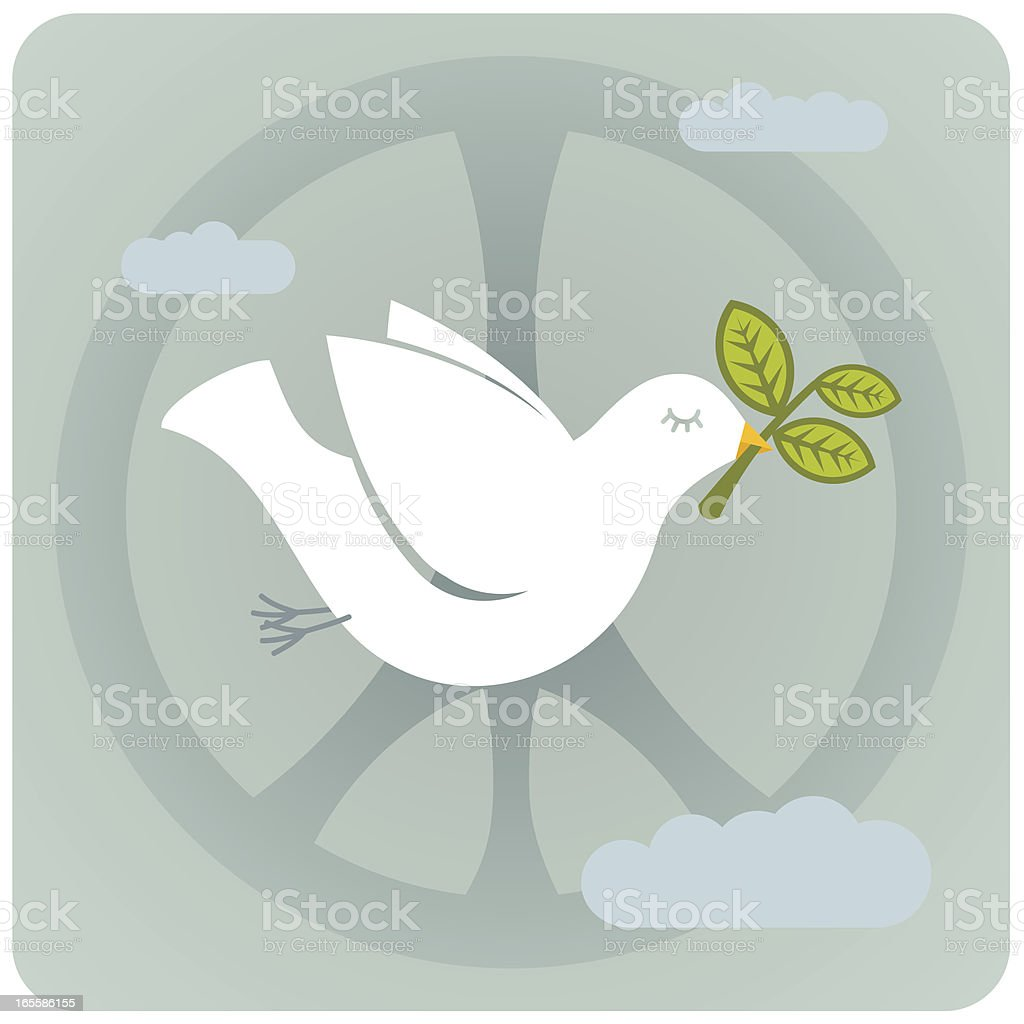 Dove & Peace royalty-free stock vector art