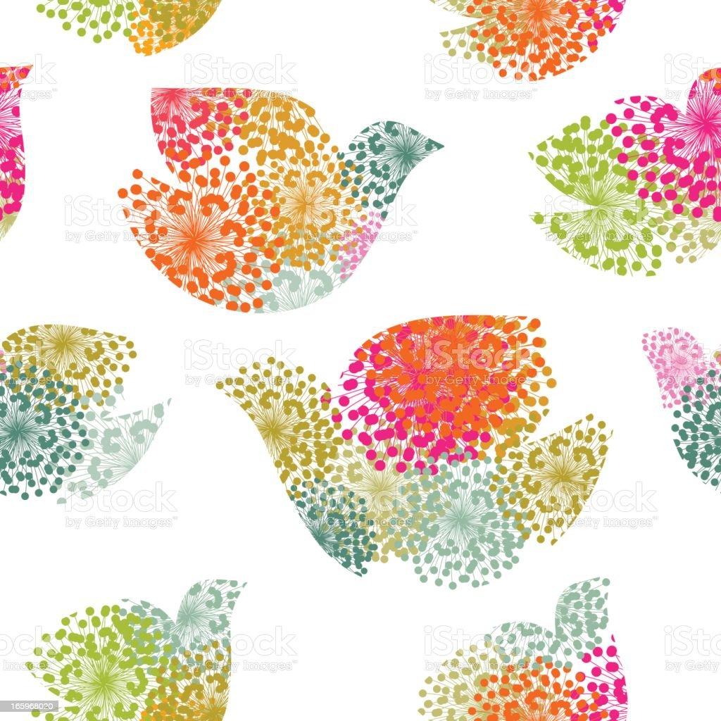 Dove seamless pattern vector art illustration