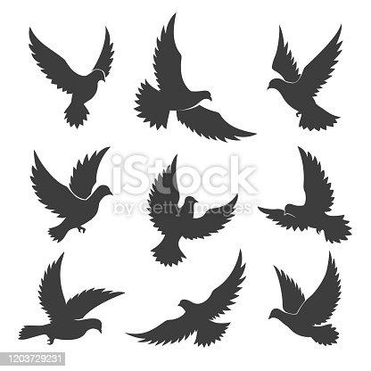 istock Dove spiritual silhouettes 1203729231
