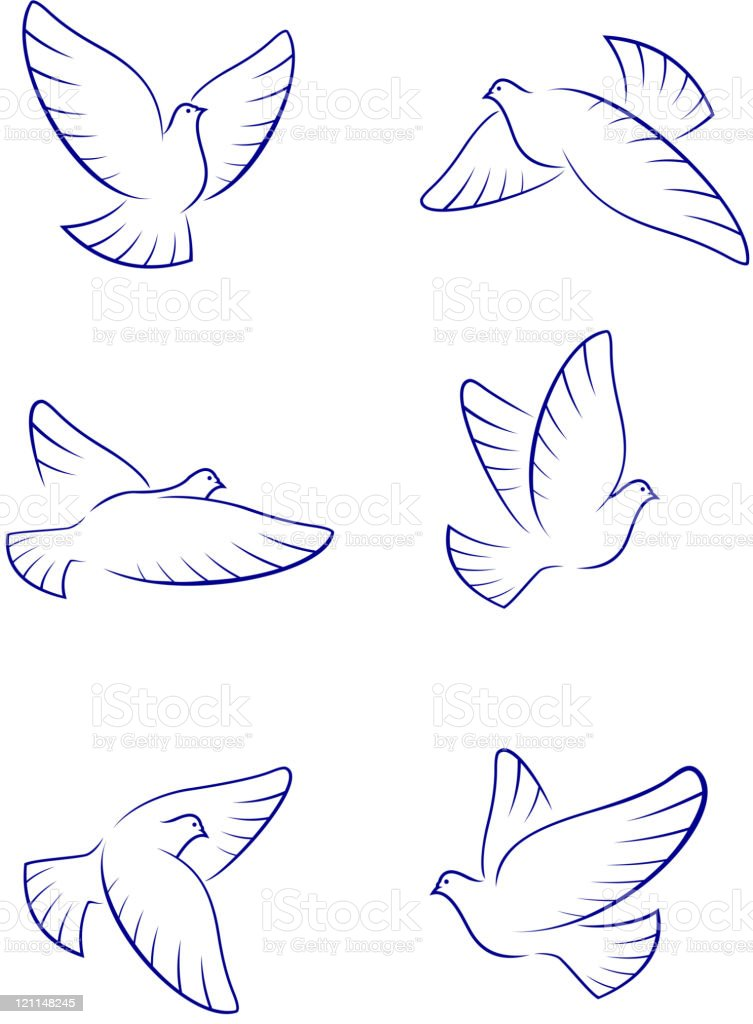 Dove symbols royalty-free dove symbols stock vector art & more images of allegory painting