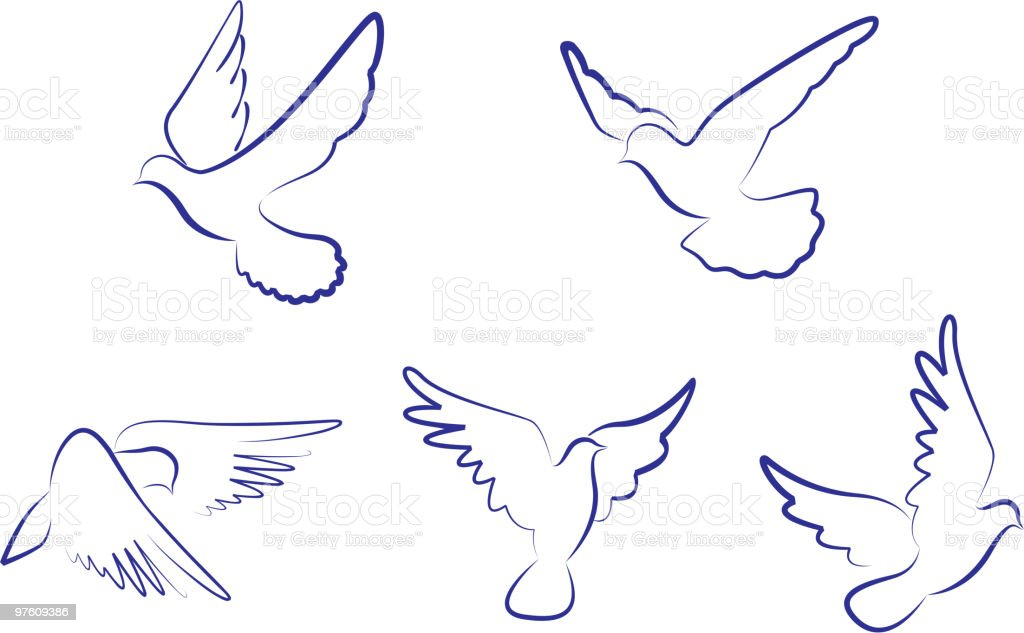 Dove symbols royalty-free dove symbols stock vector art & more images of bird