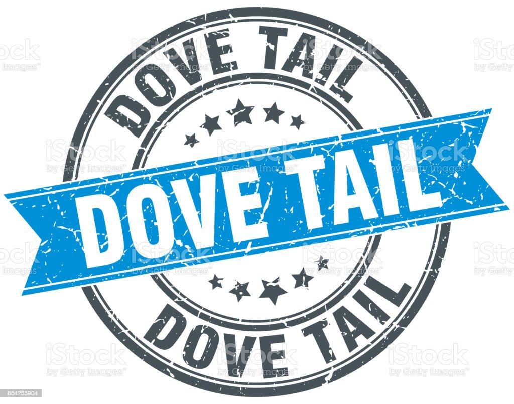 dove tail round grunge ribbon stamp royalty-free dove tail round grunge ribbon stamp stock vector art & more images of award ribbon