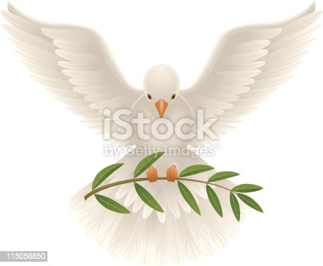 Free Flying Dove Clip Art - Dove With Olive Branch - Free Transparent PNG  Clipart Images Download