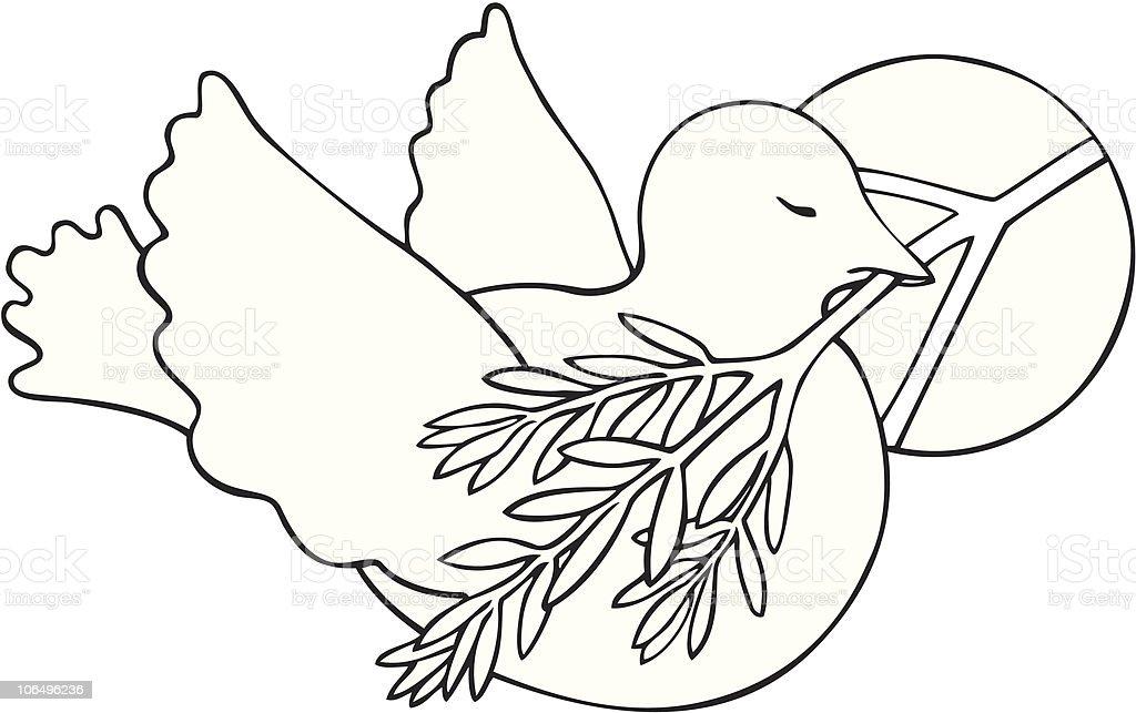 Vetores De Dove Com Simbolo Da Paz E Da Olive Branch E Mais