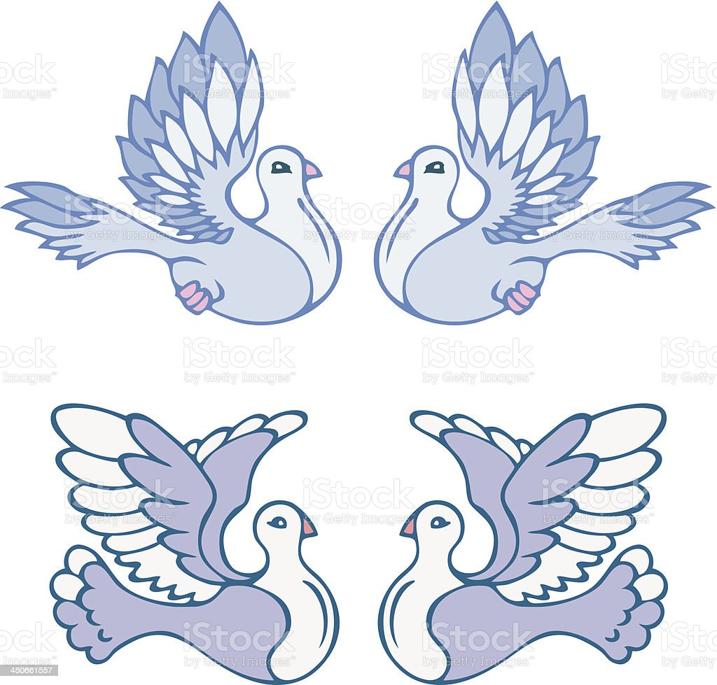 doves royalty-free stock vector art