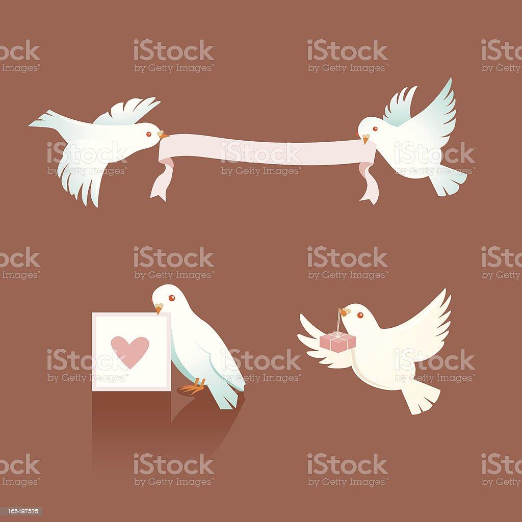Ilustración de Palomas Con Cintas Y Amor Mensajes y más banco de ...