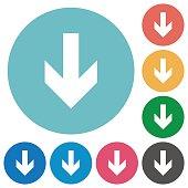 istock Down arrow flat icons 683377136