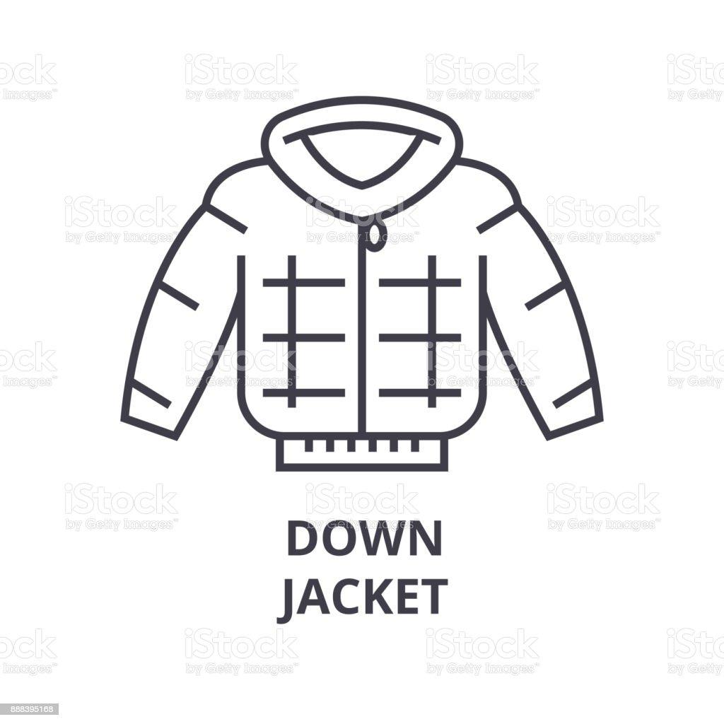 down jacket line icon, outline sign, linear symbol, vector, flat illustration vector art illustration