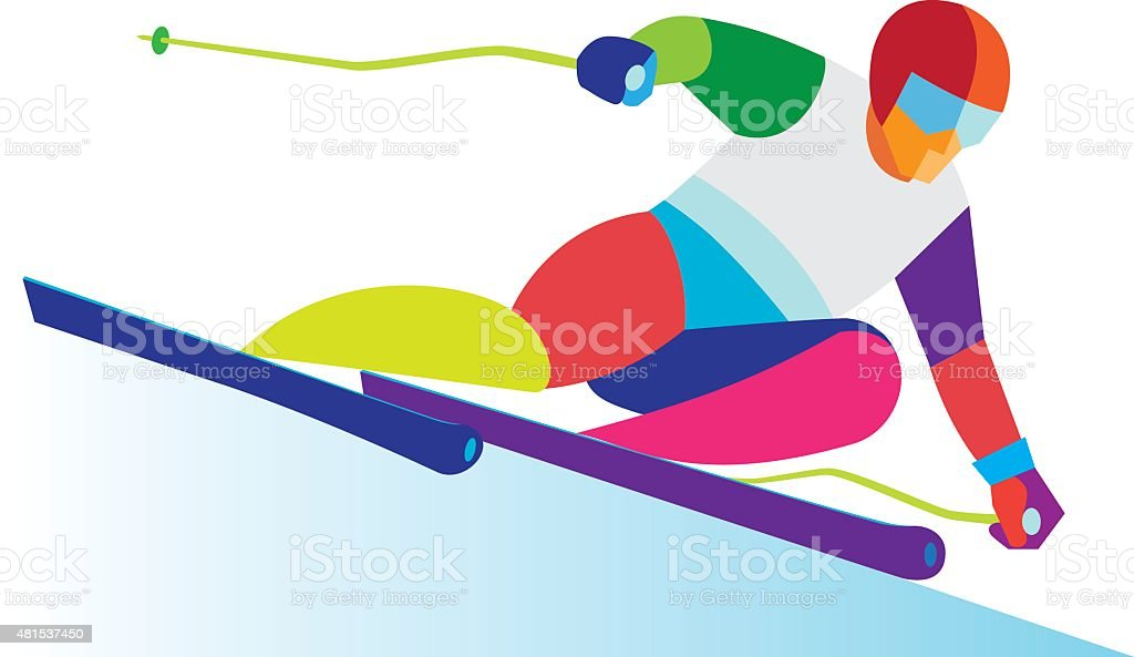 royalty free downhill skiing clip art vector images illustrations rh istockphoto com go skiing clipart skating clipart free