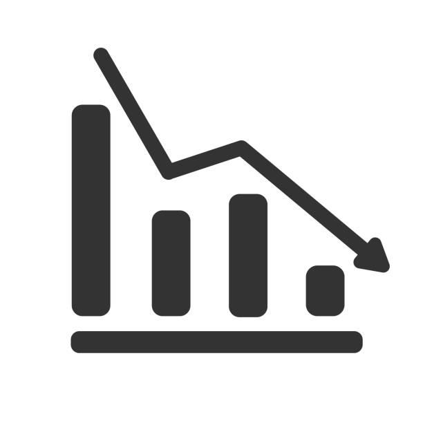 Abschuss Diagramm Symbol isoliert auf weißem Hintergrund – Vektorgrafik