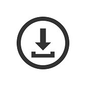 Download button on white background