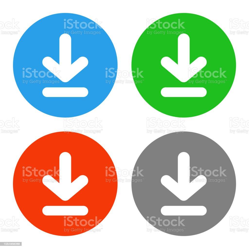 Download button. Save symbol. Vector icon