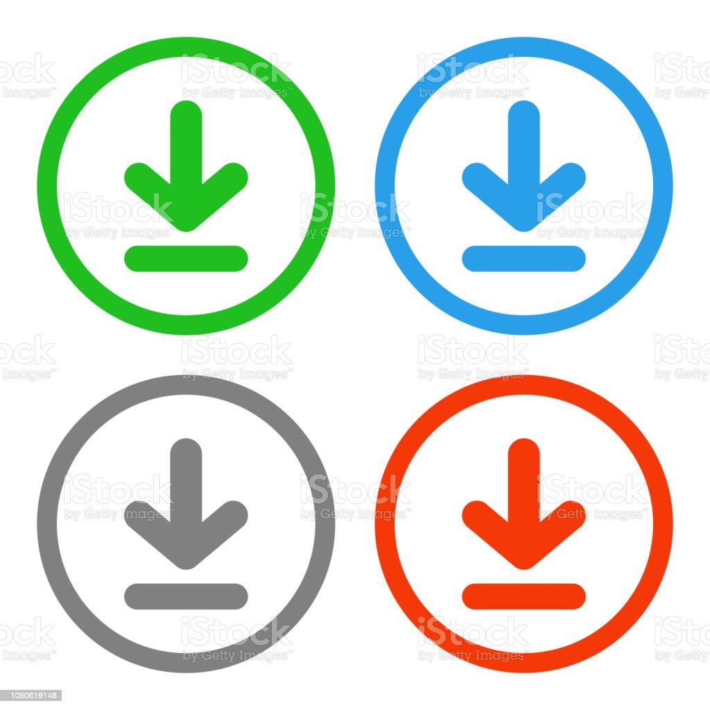 Download button. Vector icon