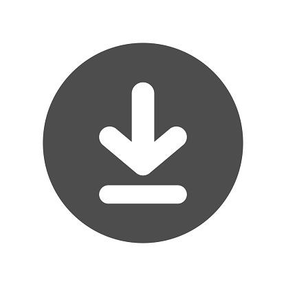 Download button. Vector icon.