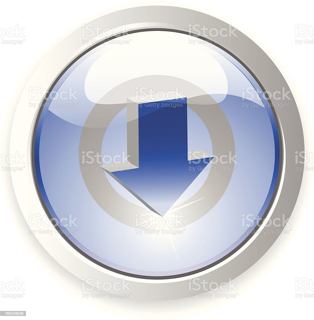 Download Button royalty-free stock vector art