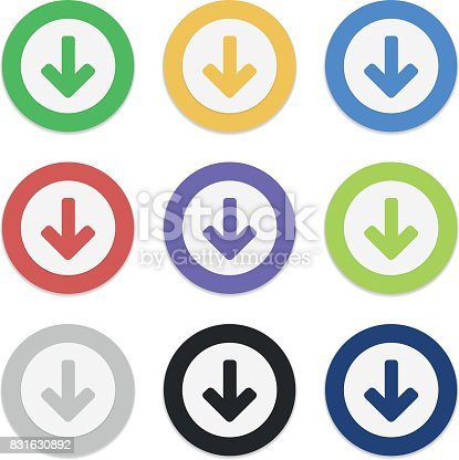 istock Download buttons set 831630892