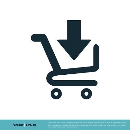 Download Cart Trolley Icon Vector Logo Template Illustration Design. Vector EPS 10.