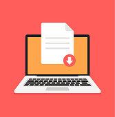 Download document file pdf zip sheet button computer laptop pc. Downloading element concept