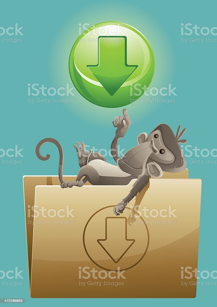 Download File monkey royalty-free stock vector art