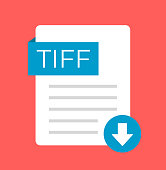 TIFF download flat isolated icon