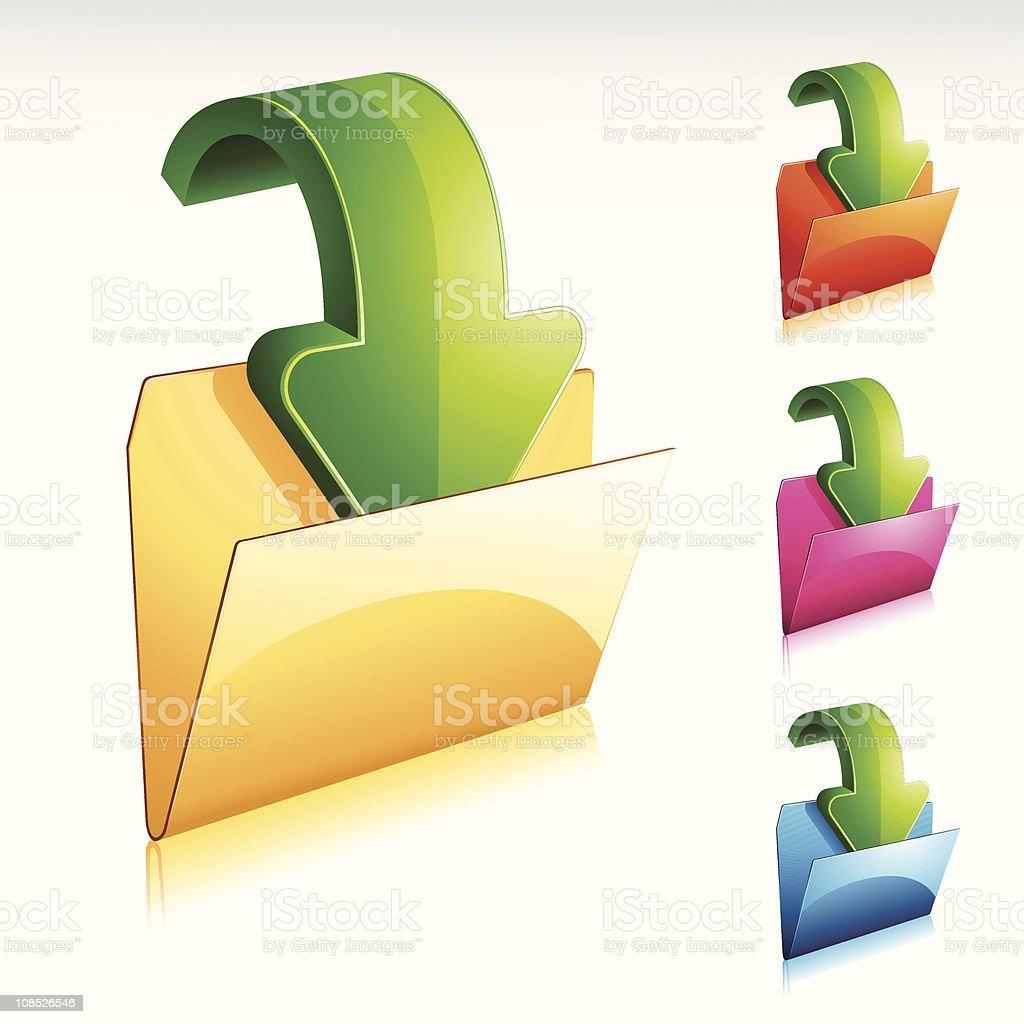 Download Folder Icon royalty-free stock vector art