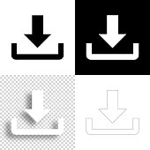 istock Download. Icon for design. Blank, white and black backgrounds - Line icon 1295838983